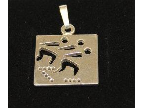 Sport-jewel stříbrný přívěsek - Inline tým SJP004