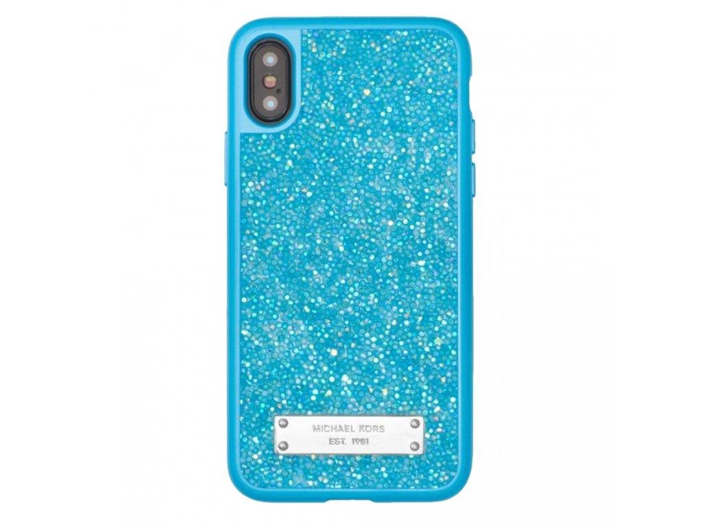 Michael Kors Glitter Case iPhone X - Blue