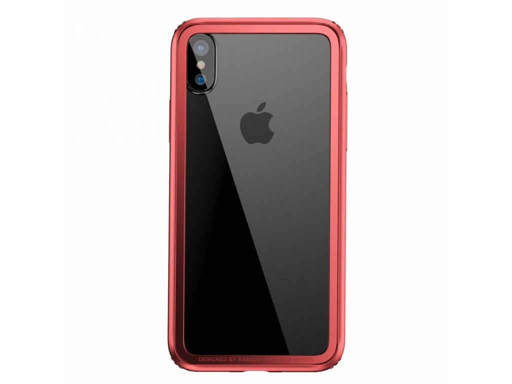 Baseus Hard and Soft Border Case iPhone X - Red