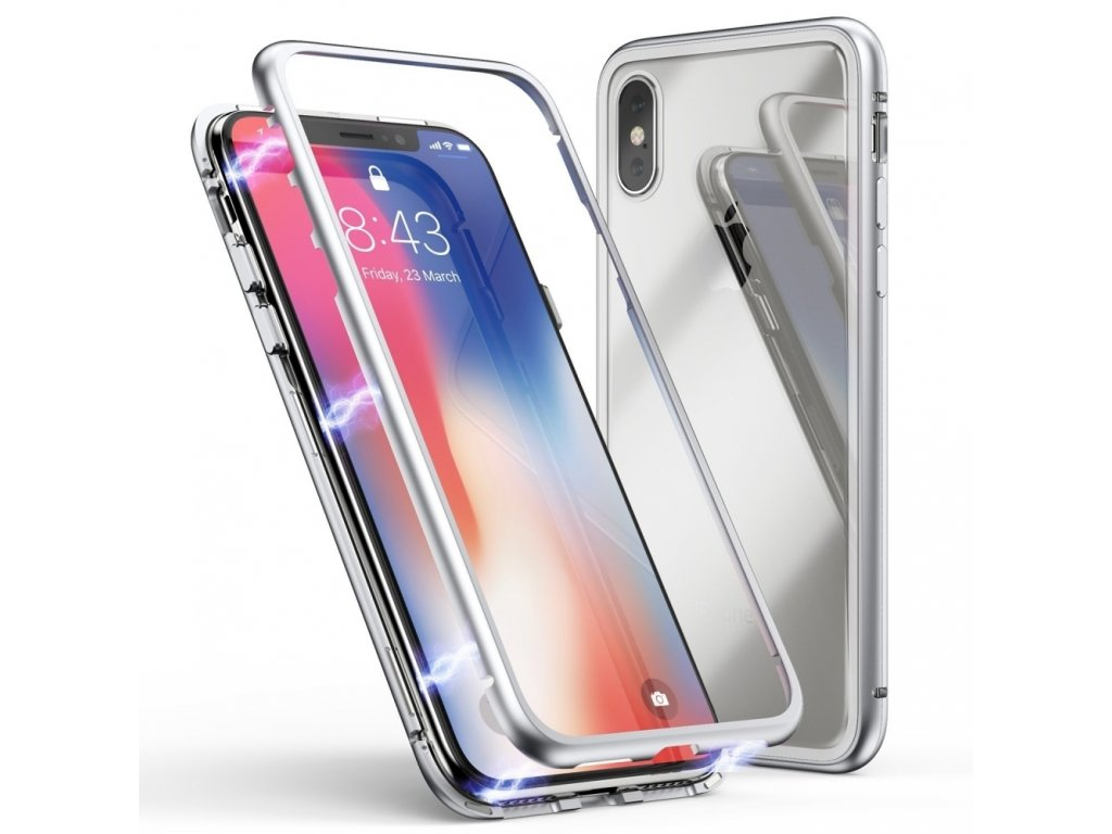 Innocent Durable Magnetic Case 9H iPhone XS/X - Silver