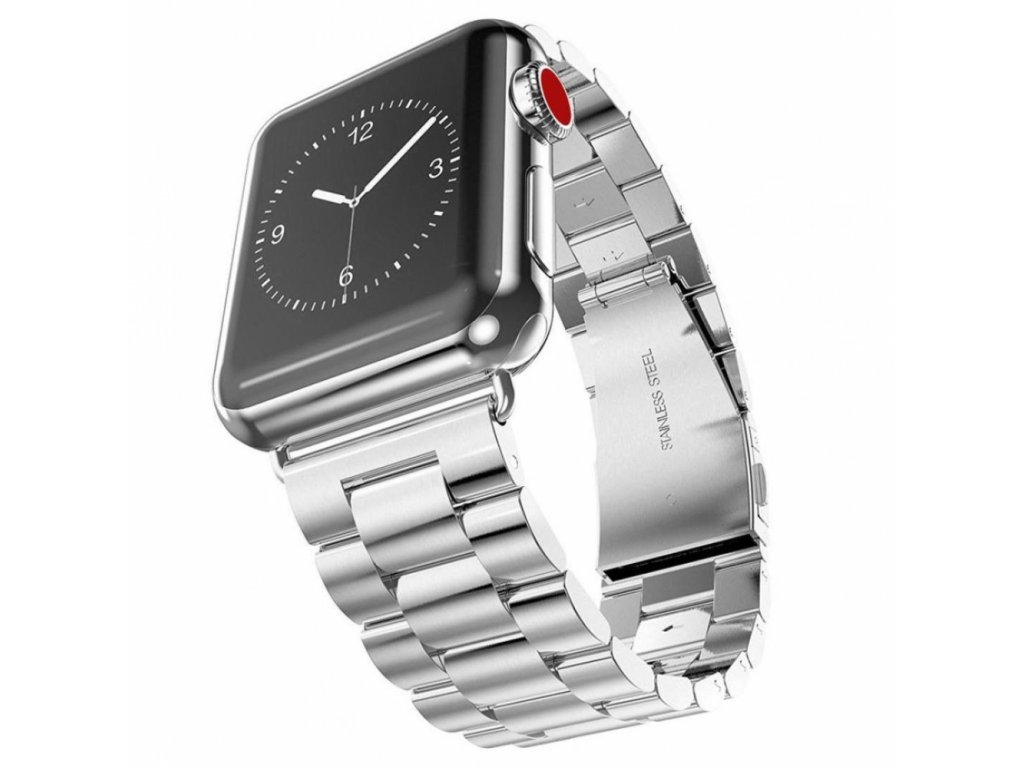 Innocent Folding Clasp Apple Watch Band 42/44mm - Silver
