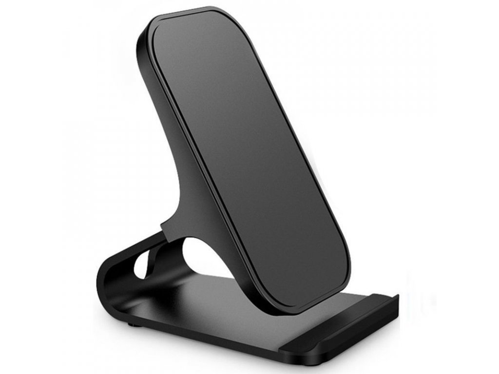 Fast Qi Wireless Stand Charger 10W - Black