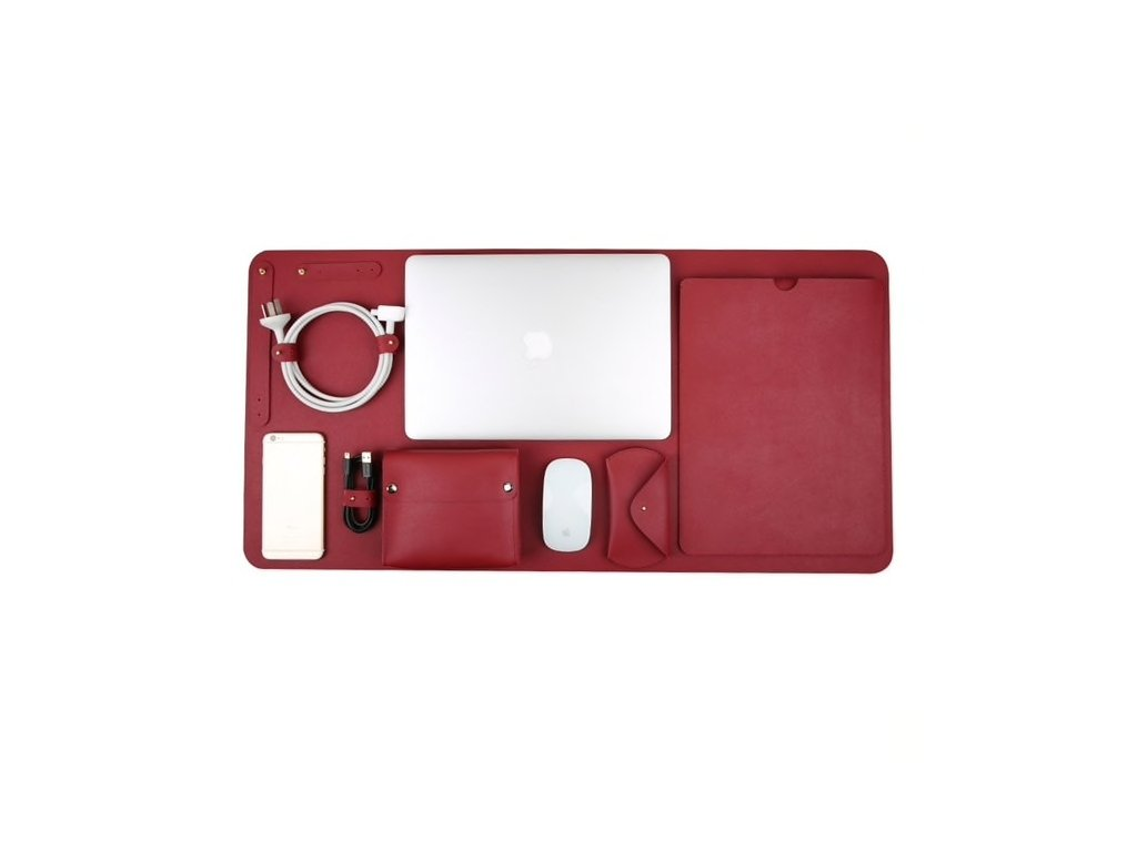 """Innocent Luxury PU Leather 5 in 1 Set for MacBook Pro 13"""" USB-C / Air Retina - Red"""