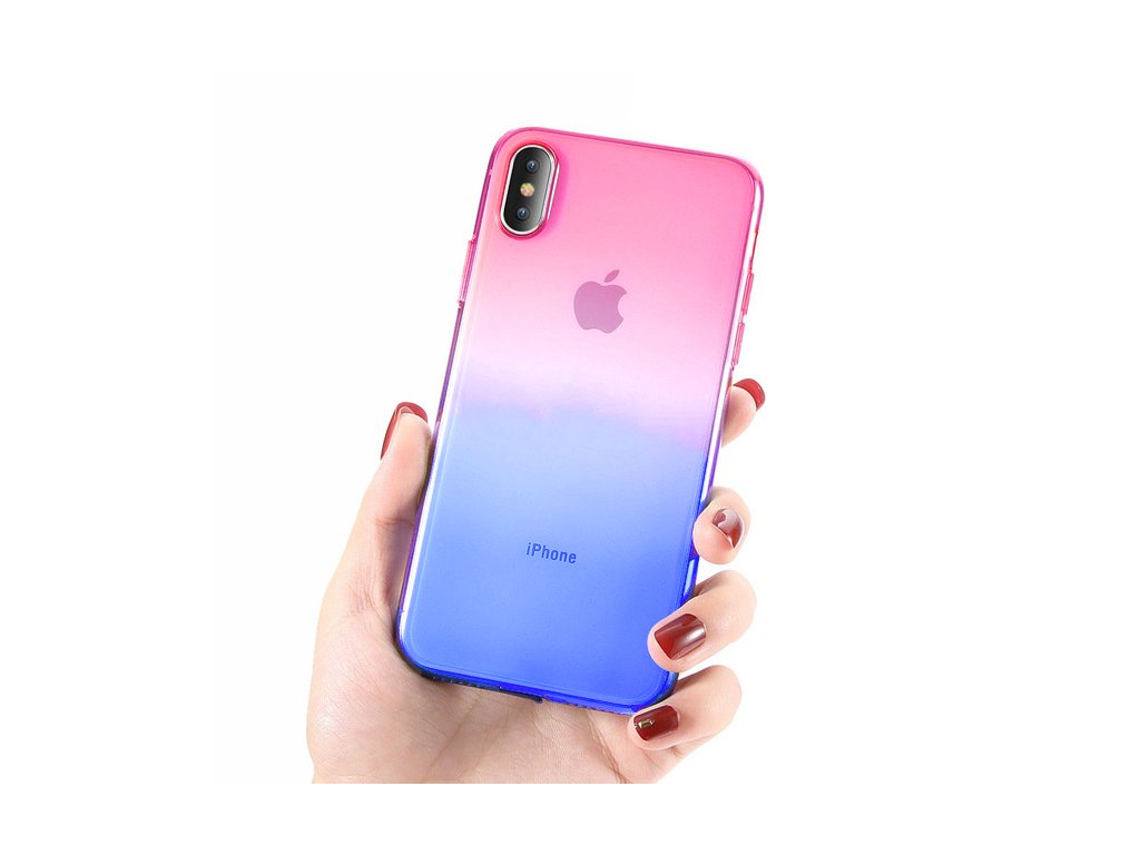 Innocent Rainbow Case iPhone X/XS - Pink - Blue