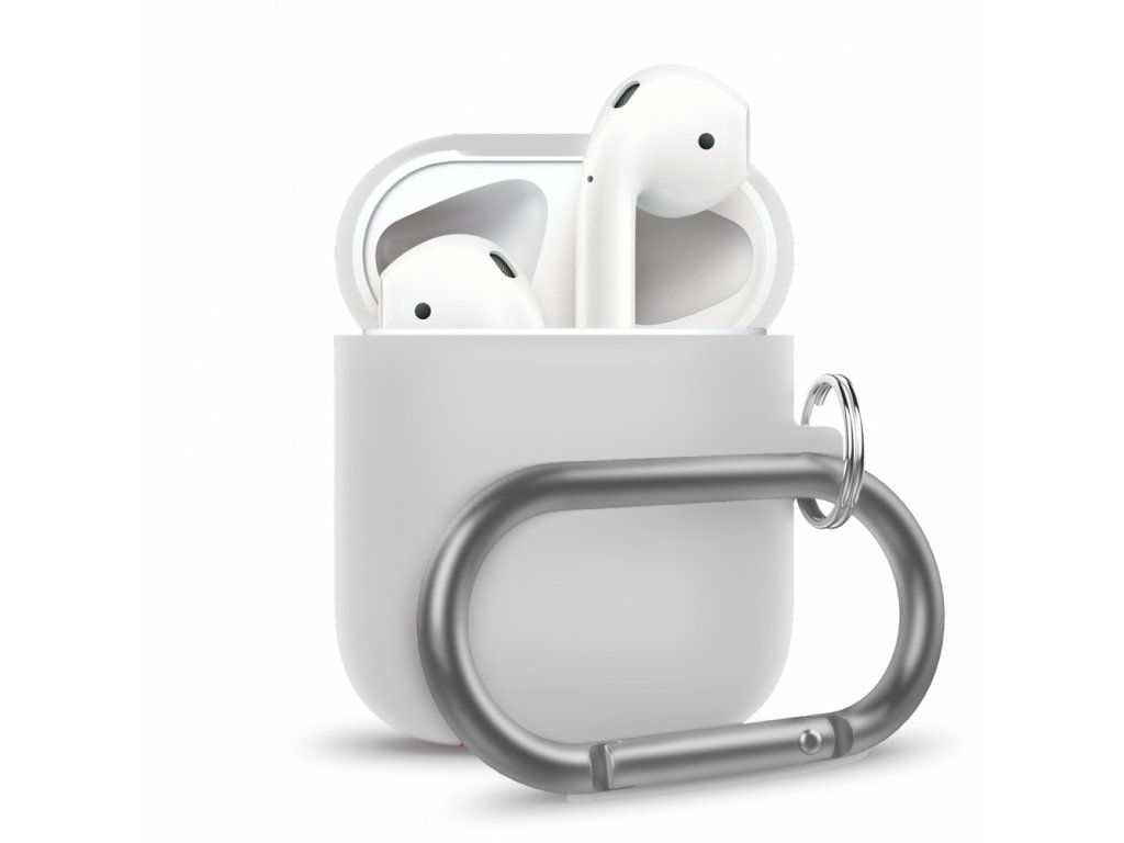 Innocent California Silicone AirPods Case with Carabiner - White