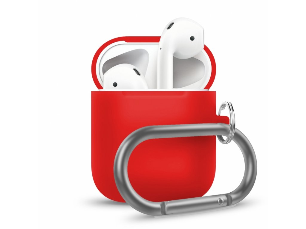 Innocent California Silicone AirPods Case with Carabiner - Red