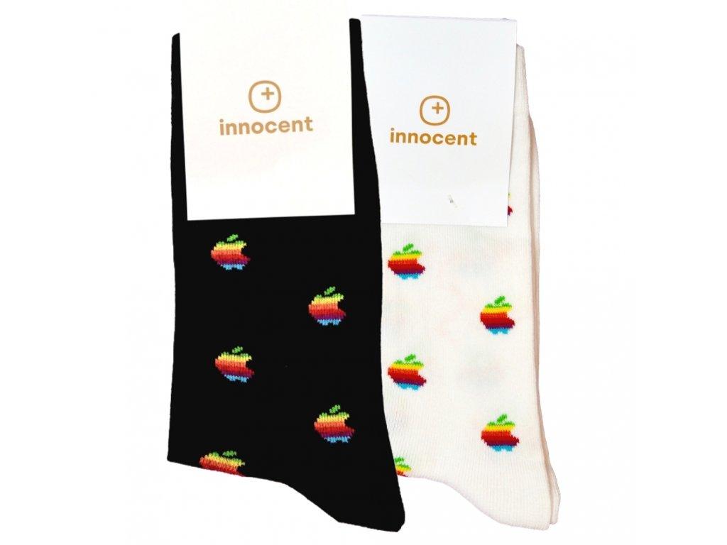 Innocent iSocks Apple Retro 8bit Black & White 2-pack - Size: 37-41