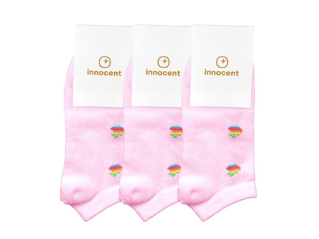 Innocent Mini iSocks Apple Retro 8bit Size: 37-41 3-pack Pink