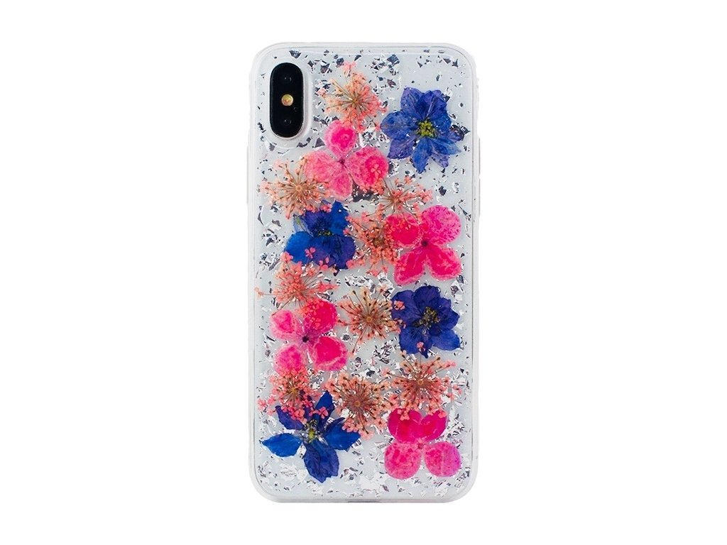 InnocentMade Luxe Pressed Flower 24k Magic Case iPhone X - Silver