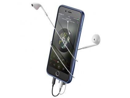 Baseus Audio 2x Lightning Case iPhone 8/7 - Blue