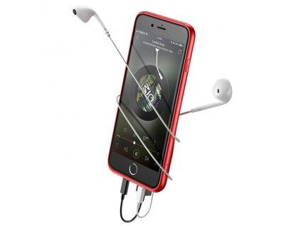 Baseus Audio 2x Lightning Case iPhone 8/7 - Red