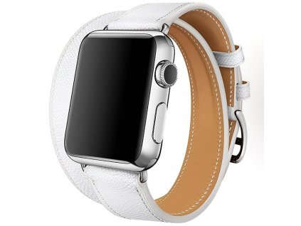 Innocent Double Leather Strap Apple Watch Band 38/40mm - White
