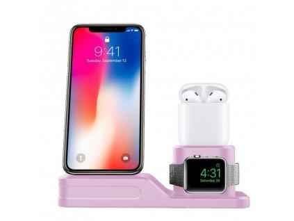 Innocent PowerHub iPhone & Apple Watch & AirPods Charging Dock  - Pink