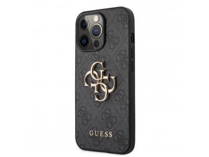 Guess PU 4G Metal Logo Case iPhone 13 Pro Max - Grey