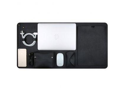 "Innocent Luxury PU Leather 5 in 1 Set for MacBook Pro 13"" USB-C / Air Retina - Black"
