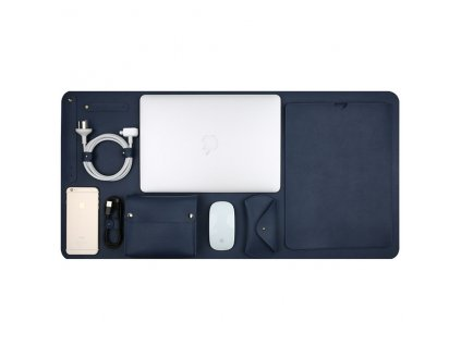 """Innocent Luxury PU Leather 5 in 1 Set for MacBook Pro 13"""" USB-C / Air Retina - Navy blue"""