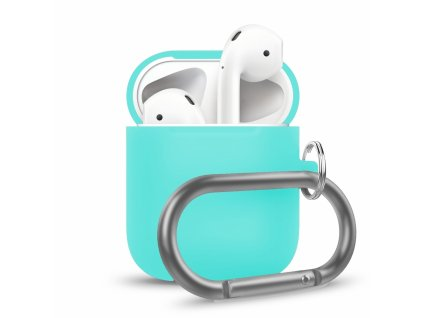Innocent California Silicone AirPods Case with Carabiner - Mint
