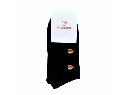 Innocent Mini iSocks Apple Retro 8bit Black - Size: 37-41