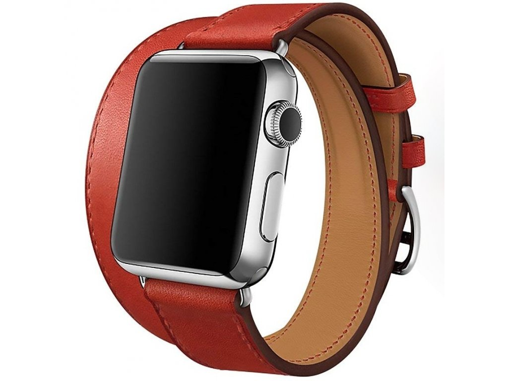 Innocent Double Leather Strap Apple Watch Band 38/40mm - Red