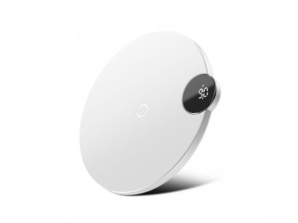 Baseus Qi Wireless Digital LED Charger 10W - White