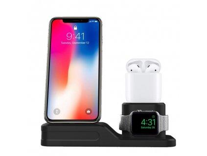 Innocent PowerHub iPhone & Apple Watch & AirPods Charging Dock  - Black
