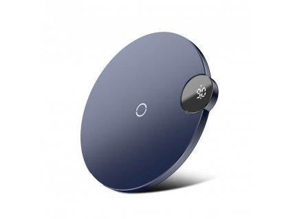 Baseus Qi Wireless Digital LED Charger 10W - Blue