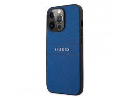 Guess PU Leather Saffiano Case iPhone 13 Pro - Blue