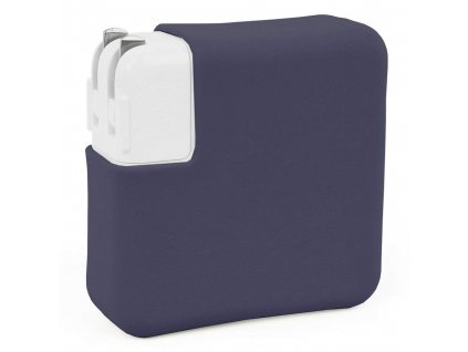 """Silicone MacBook Charger Case for Pro 15"""" USB-C - Navy blue"""