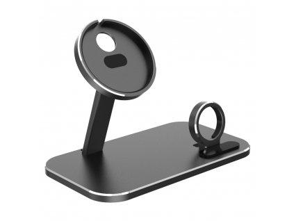 Innocent MagSafe Aluminium iPhone & Watch Stand - Black