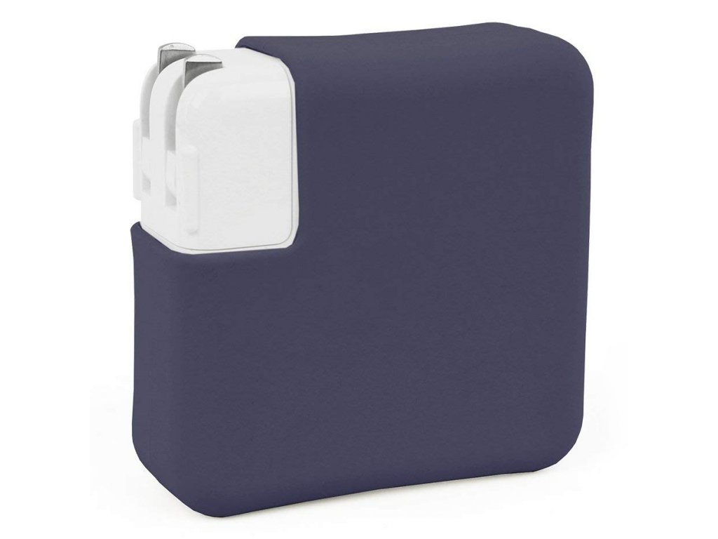 """Silicone MacBook Charger Case for Air 13"""" - Navy blue"""