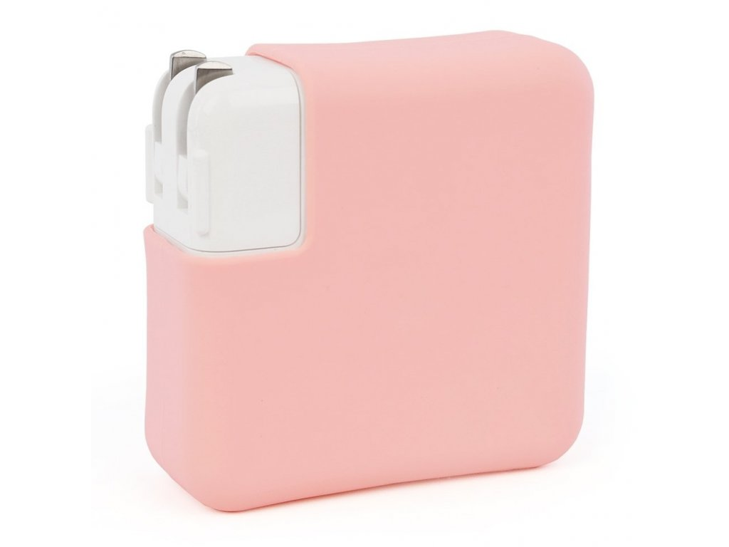 """Silicone MacBook Charger Case for Pro 13"""" USB-C - Pink"""