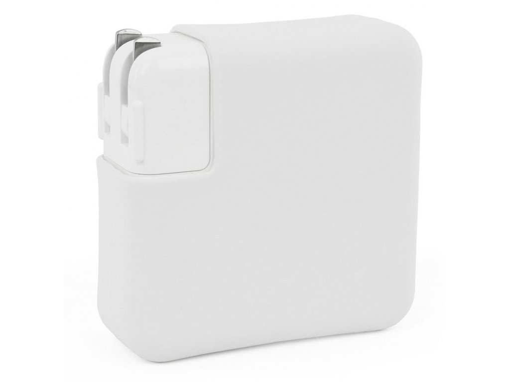 """Silicone MacBook Charger Case for Pro 15"""" USB-C - White"""