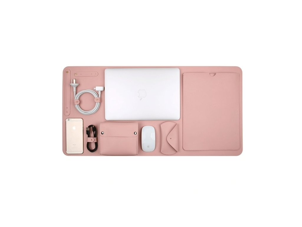 """Innocent Luxury PU Leather 5 in 1 Set for MacBook Pro 13"""" USB-C / Air Retina - Pink"""