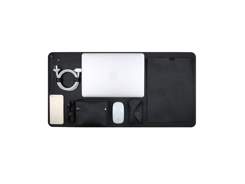 "Innocent Luxury PU Leather 5 in 1 Set for MacBook Pro Retina 15""  - Black"