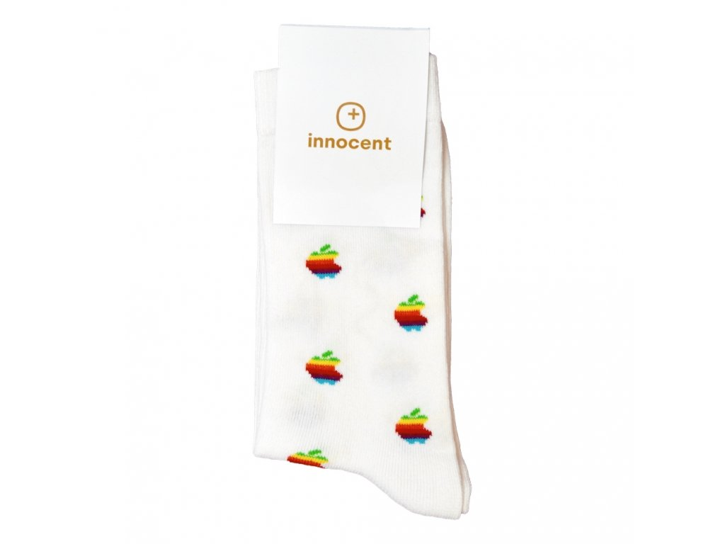 Innocent iSocks Apple Retro 8bit White - Size: 37-41