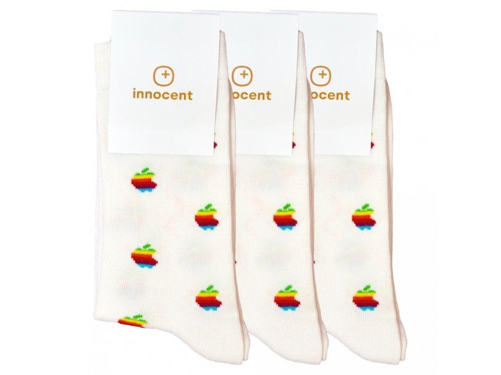 Innocent iSocks Apple Retro 8bit 3-pack White - Size: 42-46