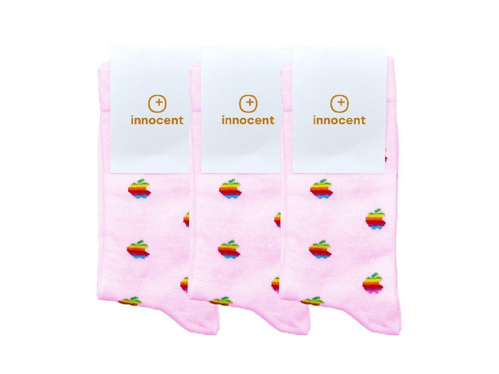 Innocent iSocks Apple Retro 8bit Size: 37-41 3-pack Pink - Size: 37-41