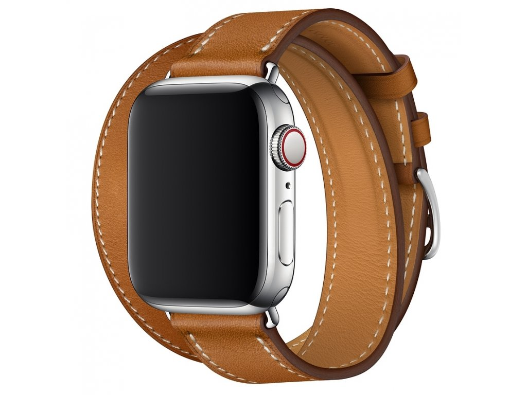 Innocent Double Leather Strap Apple Watch Band 42/44mm - brown