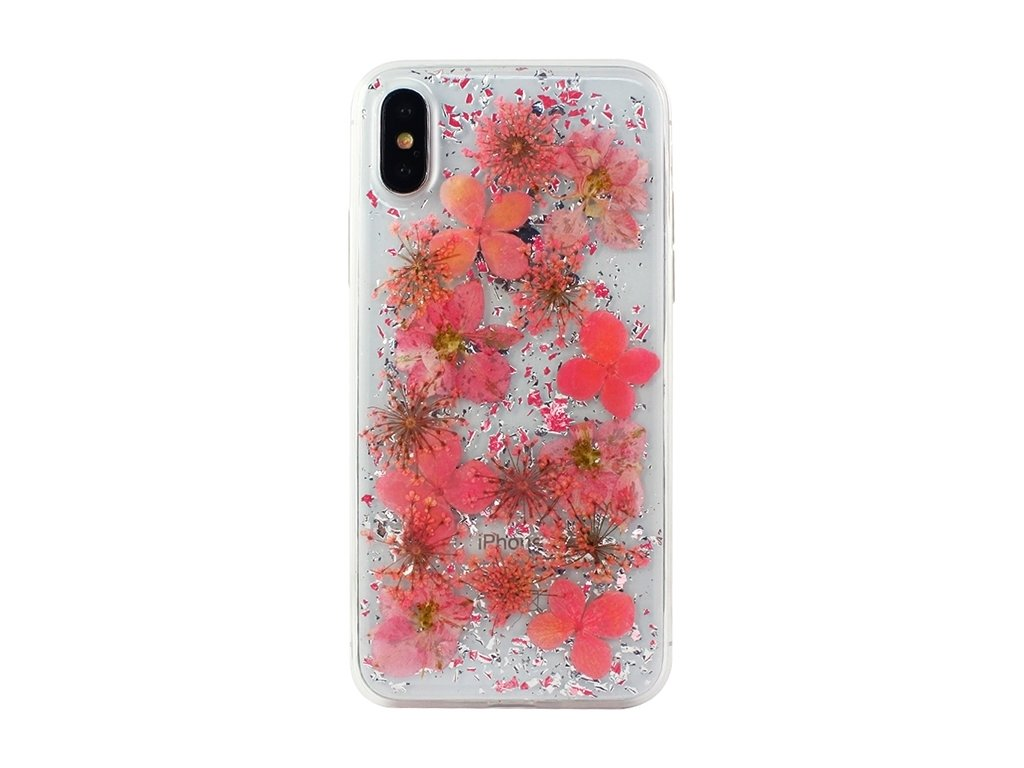 InnocentMade Luxe Pressed Flower 24k Magic Case iPhone X - Rose gold