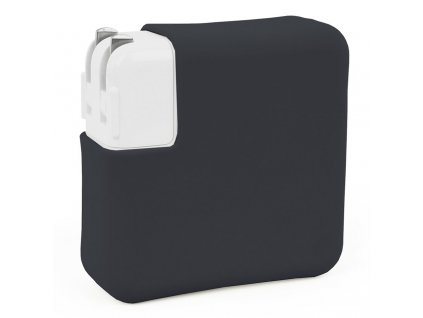 """Silicone MacBook Charger Case for 12"""" and Air 13"""" Retina - Black"""