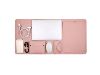 """Innocent Luxury PU Leather 5 in 1 Set for MacBook Pro Retina 13"""" / Air 13"""" - Pink"""