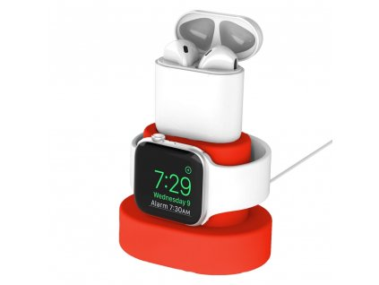 Innocent Watch & AirPods Charging Dock - Red