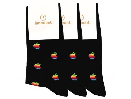 Innocent iSocks Apple Retro 8bit 3-pack Black - Size: 37-41