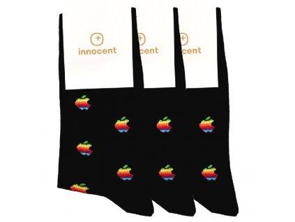 Innocent iSocks Apple Retro 8bit 3-pack Black - Size: 42-46