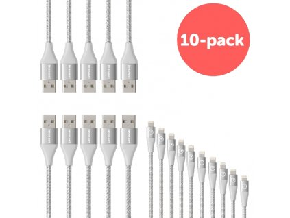 Innocent Flash FastCharge Lightning Cable 1,5m 10-pack - Silver