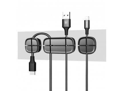 Baseus Cross Peas Cable Clip - Black