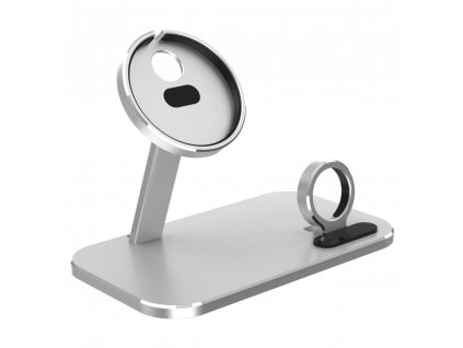 Innocent MagSafe Aluminium iPhone & Watch Stand - Silver