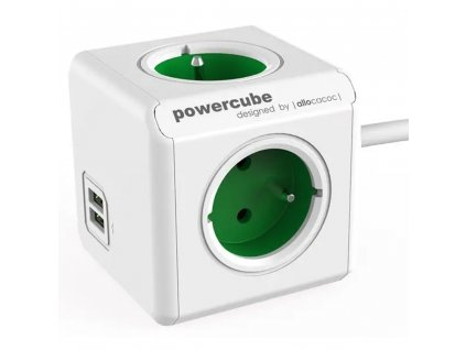 PowerCube Extended USB 1.5m - Green