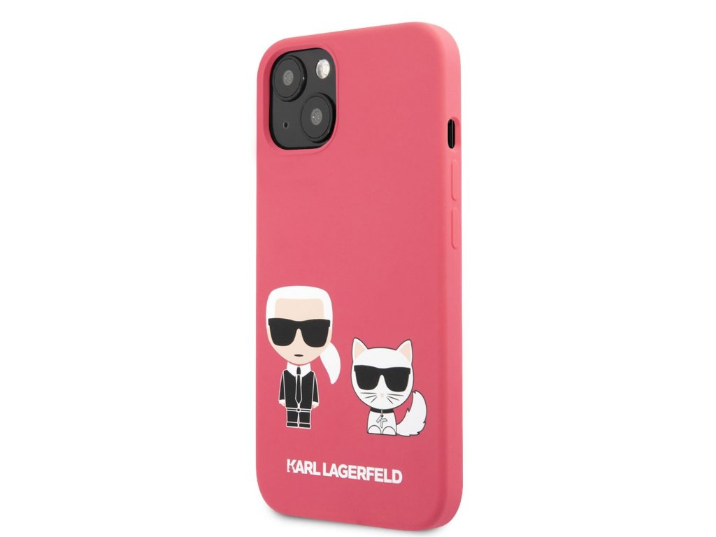 Karl Lagerfeld and Choupette Liquid Silicone Case iPhone 13 mini - Red