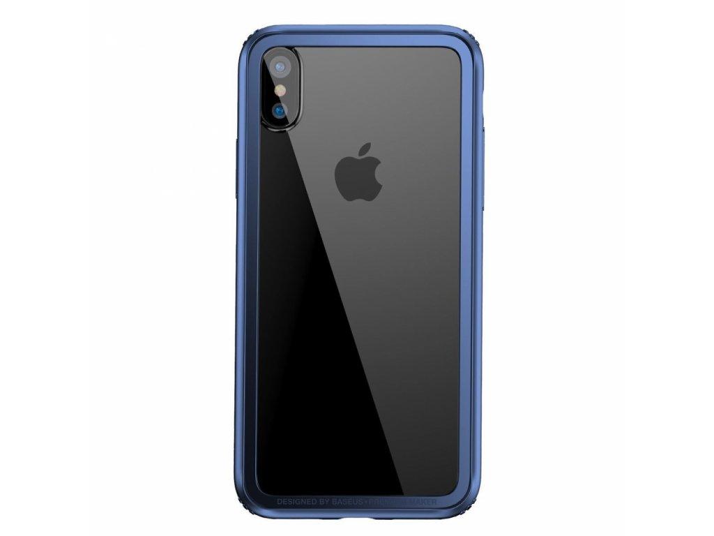 Baseus Hard and Soft Border Case iPhone X - Navy blue